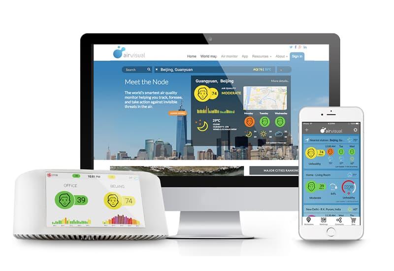 Monitoreo ambiental para interior y exterior